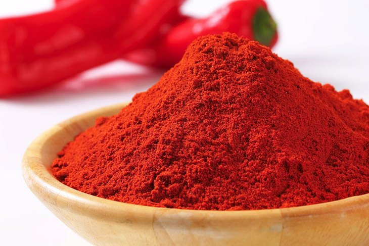 A bowl of Red Pepper Powder