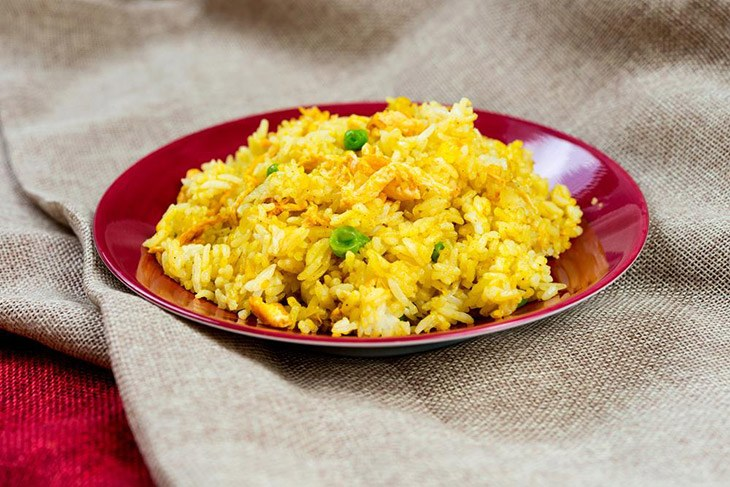 a delicious fried rice with eggs