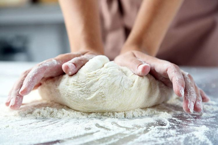 Image result for kneading pizza dough