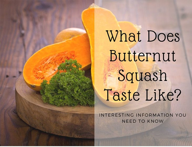 what does butternut squash taste like