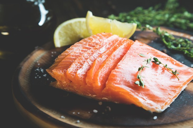 smoked salmon definition