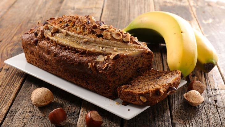 The banana bread is not cooked thoroughly