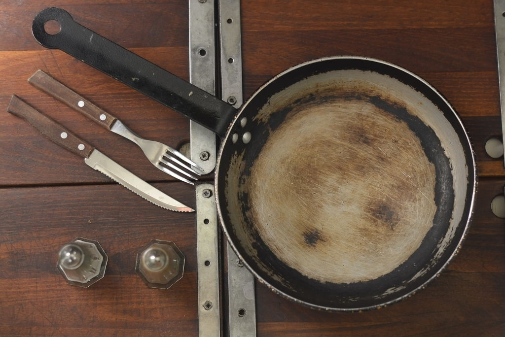 Check the condition of warped pans