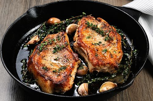 Cheez It Pork Chops Baked With Thyme Recipe