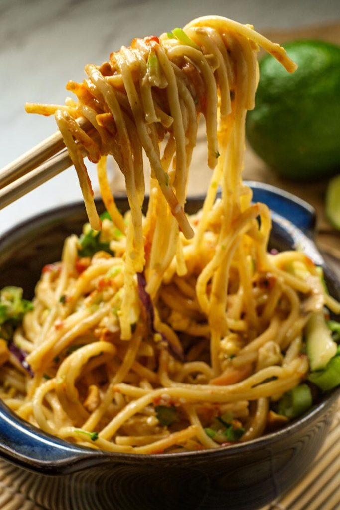 The Classic Version Of Spicy Peanut Butter Noodles