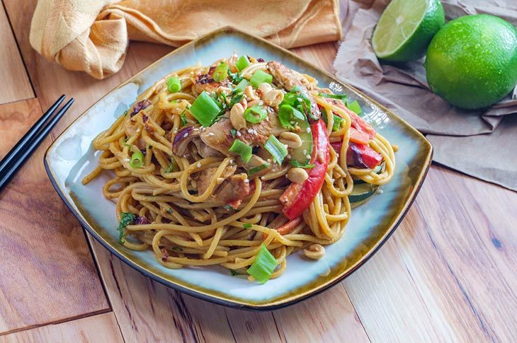 Well-balanced Version Of Spicy Peanut Butter Noodles