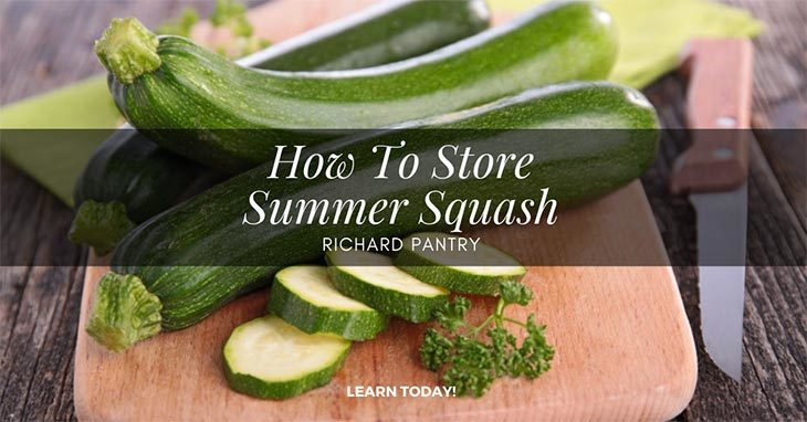 how to store summer squash