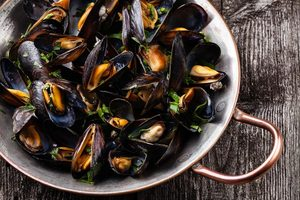 best way to reheat mussels